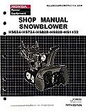 Honda HS624 HS724 HS828 HS928 HS1132 Snow blower Service Repair Shop Manual
