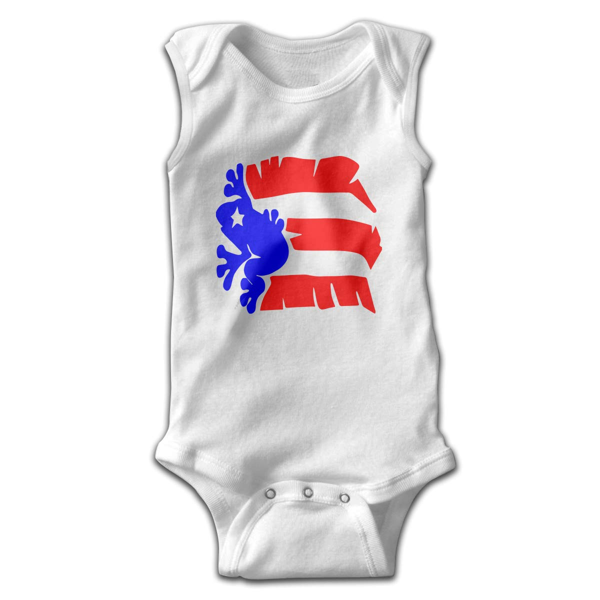 Toddler Puerto Rico Flag Sleeveless Baby Clothes Playsuit Suit 0-24 Months
