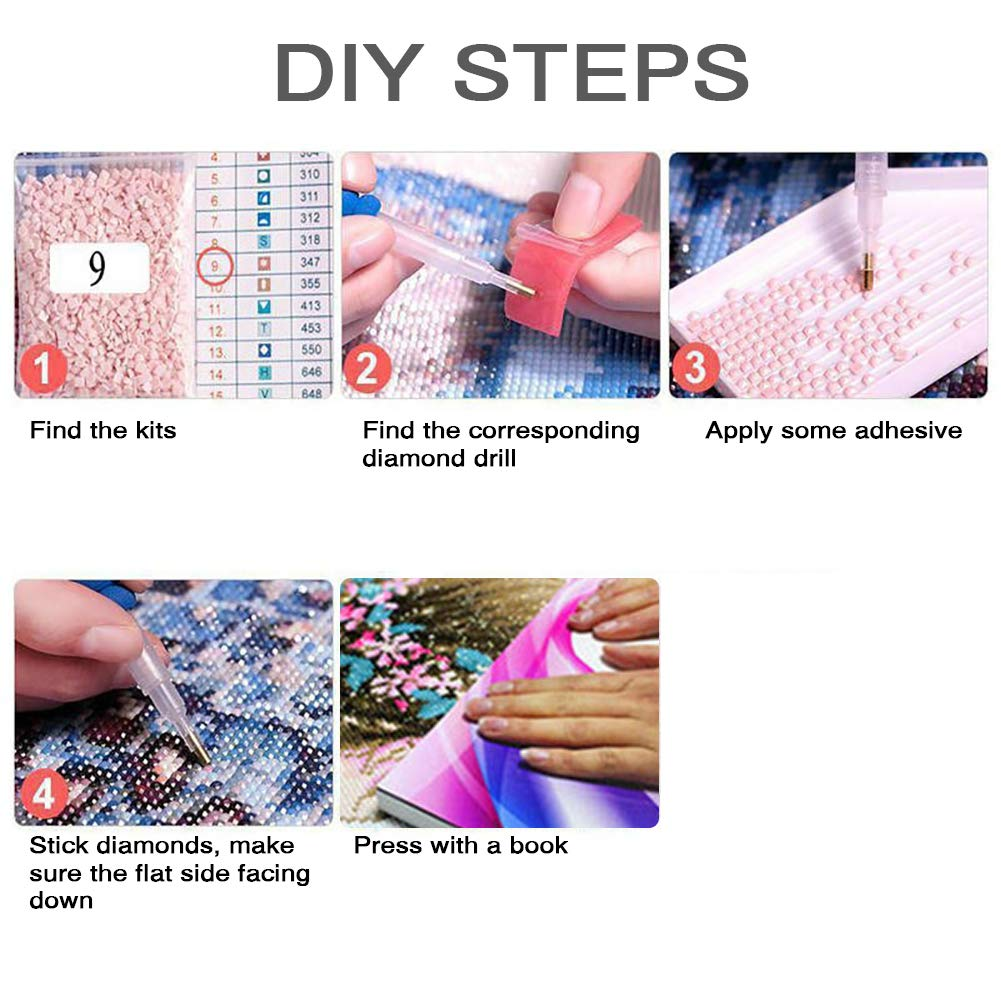 Diamond Painting Kits for Adults Room Office Woman Growing on theTtree 11.8x15.7in 1 Pack By Loxfir Home Decoration Kids