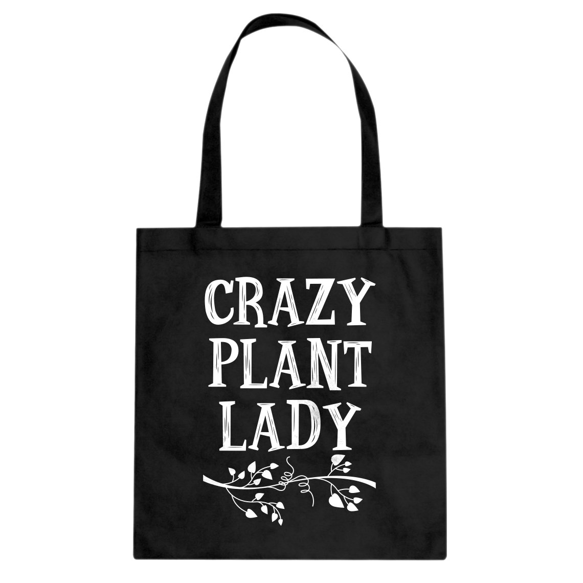 Indica Plateau Crazy Plant Ladyキャンバストートバッグ L ブラック 3270-B-BK-L B06Y8TFSPC  ブラック L