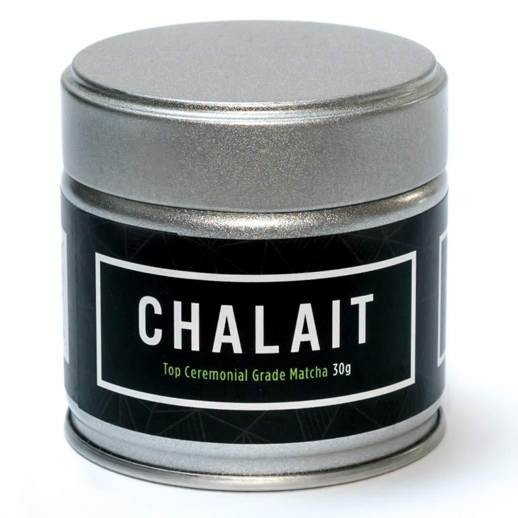 Chalait Matcha - Japanese Matcha Green Tea Powder - For Sipping as Tea - Antioxidants, Energy, Radiation Free, No Additives, Zero Sugar [30g Tin] (Top Grade) by CHALAIT