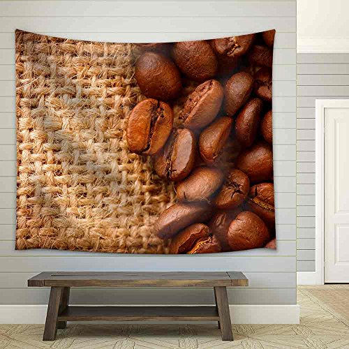 Coffee Border Design Fabric Wall Tapestry
