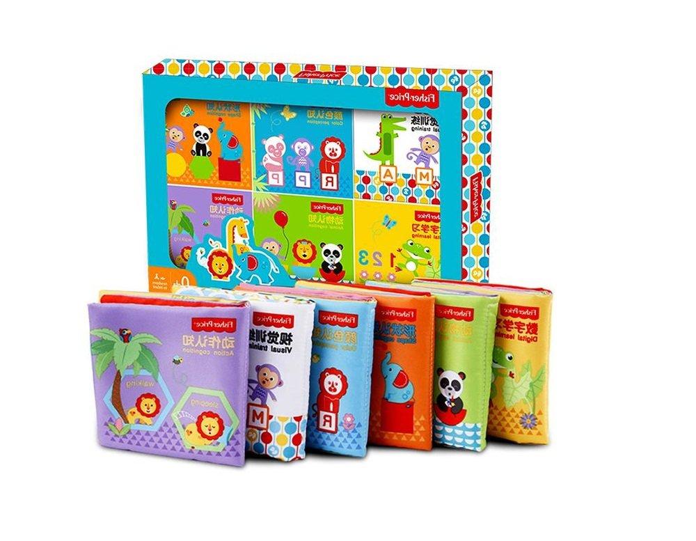 Livre d'éveil de bébé, Early Education Cloth livre Lot de 6–12mois bébé 0–1-3ans bébé Educational Toys usure non Bad Livre d' éveil de bébé Overseas manufacturing