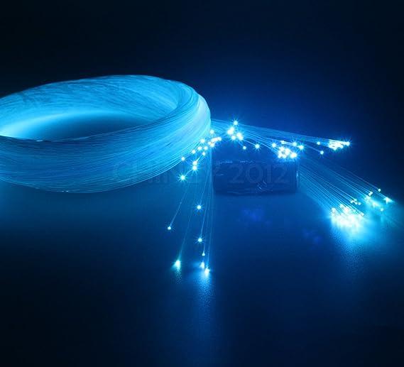 Glasfaser 984ft 300M JennyHedy Glasfaser/Φ0.03in // Rolle PMMA Kunststoff-Lichtwellenleiter Ende gl/ühend f/ür Sternenhimmel Deckenleuchte und verschiedene LED Light Engine Drivers 0.75mm