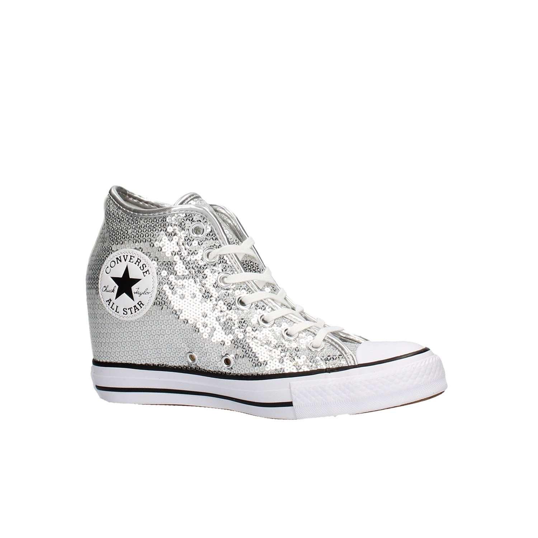 5a8928ad7bd1d ... where to buy scarpa converse chuck taylor all star mid paillettes  argento converse billig einkaufen günstig