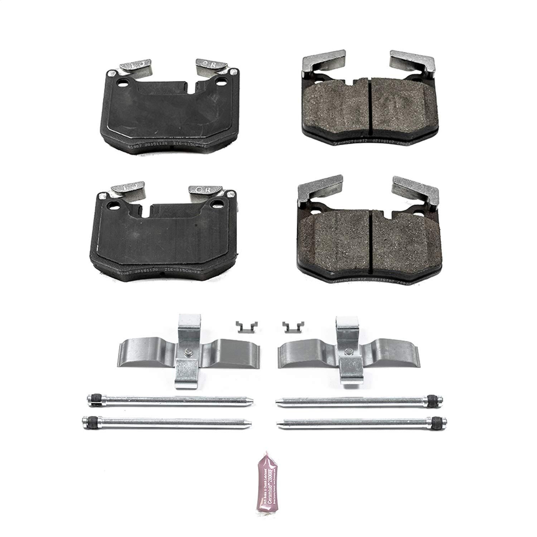 Power Stop 17-1807 Z17 Evolution Plus Clean Ride Ceramic Brake Pad with Premium Hardware Kit Included