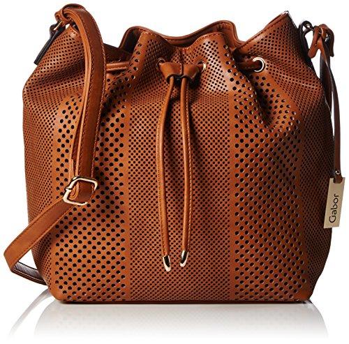 Gabor ADELE 7437 Damen Schultertaschen 33x29x12 cm (B x H x T), Braun (cognac Handtasche)