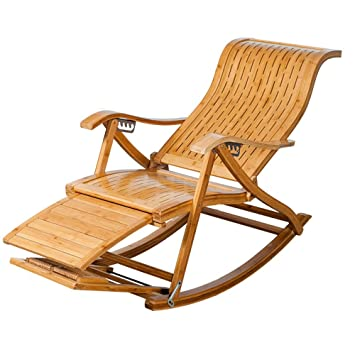 Sillones reclinables Ajustables Tipo S Lath Bamboo Mecedora ...
