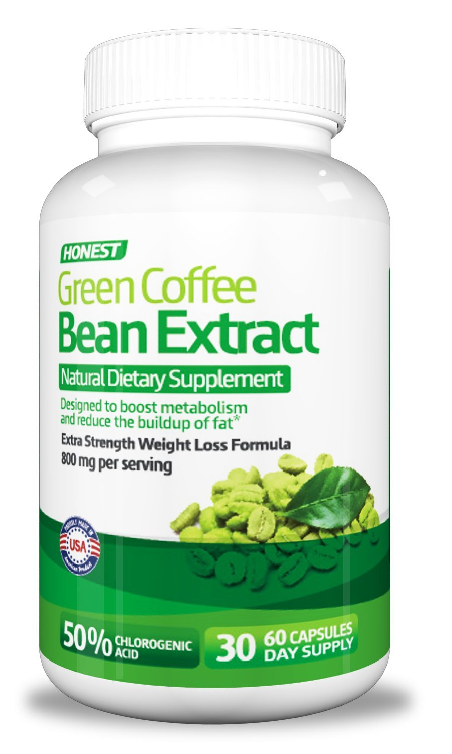 Honest Green Coffee Bean Extract - New with Proprietary Metabolism and Weight Loss Blend by Honest Green Coffee Bean Extract