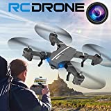 Leegor Leegor 2.4G 4Ch Altitude Hold 2 Million Wide-Angle HD Camera Wifi FPV RC Quadcopter Foldable Pocket Drone Selfie Headless Aircraft Gravity Sensor UFO