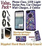 Value Pack + for 6'' Google Pixel 2 XL Case Phone Case Shock Proof Edge Diamond Rippled Hard Back Firm Grip Hybrid Slim Bumper Cover (Prism)