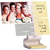 NoteTower Desktop Mini White - Sticky Note Organizer and Paper Holder - Holds and Displays Photos, Sticky Notes and Business Cards + Bonus 50 Sheet 3x3 Sticky Note Pad