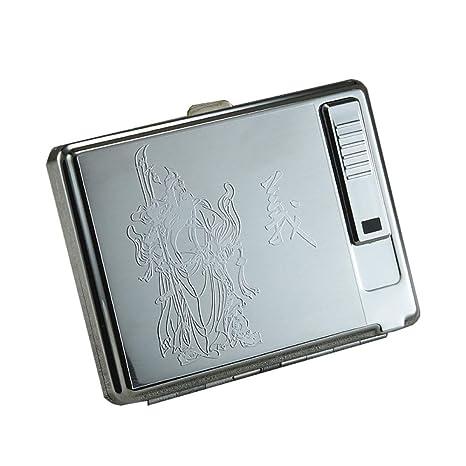WYL Caja de Cigarrillos, Caja de Cigarrillos de Acero ...
