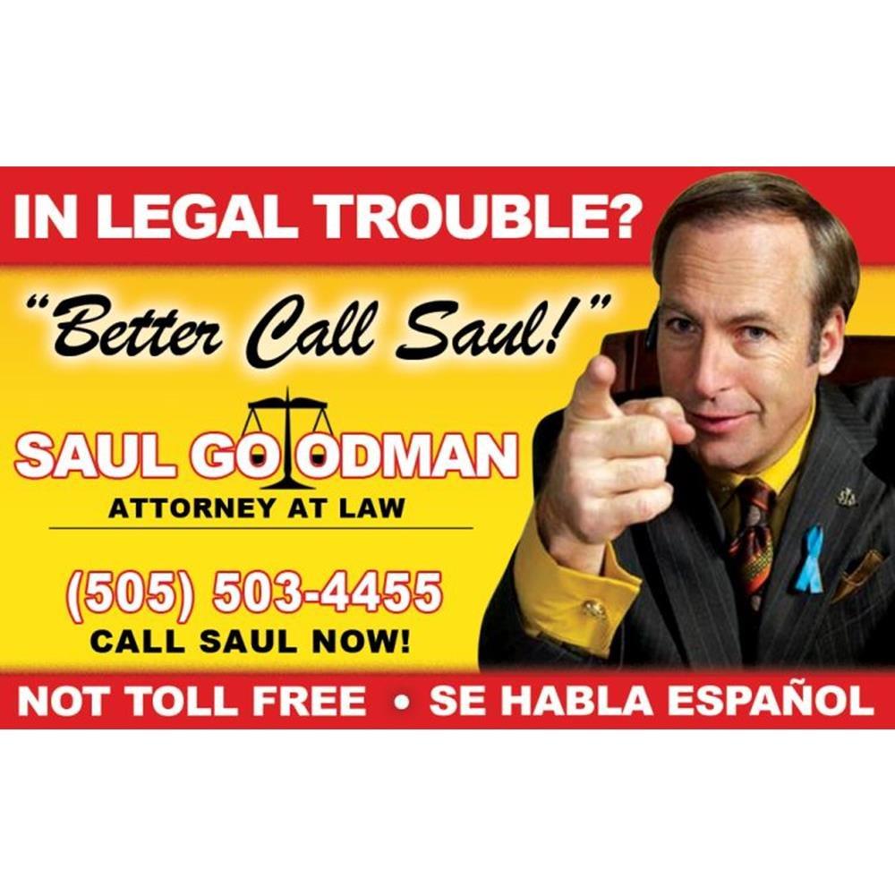 Signs 4 Fun NWWID3 Saul Goodmans Drivers License