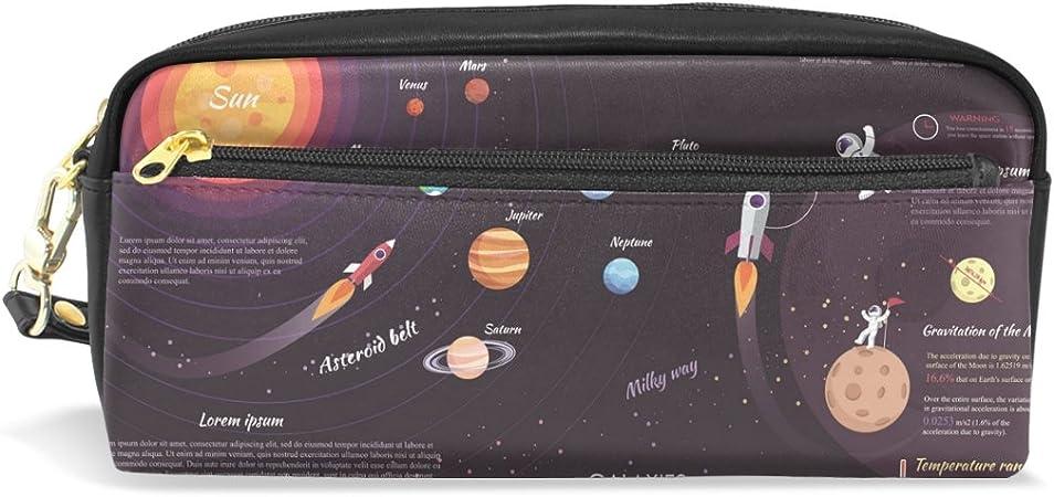 Ahomy Estuche Luna Espacio Milky Way Sistema Solar Gran Capacidad Bolígrafo Bolso de Estudiante Cartera Cosmético Maquillaje Bolsa para Mujer: Amazon.es: Oficina y papelería