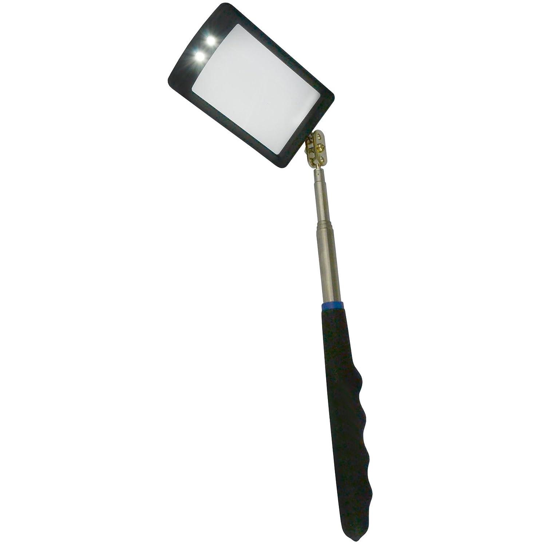 AB Tools-US Pro Miroir dinspection telescopique 2 LED Torche lumi/ère vive lextension par Bergen /À913