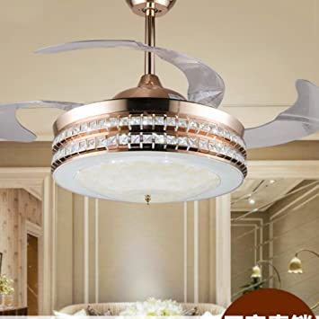 Lighting groups modern led luxury 42 inch invisible retractable lighting groups modern led luxury 42 inch invisible retractable crystal ceiling fans with lights and remote aloadofball Image collections