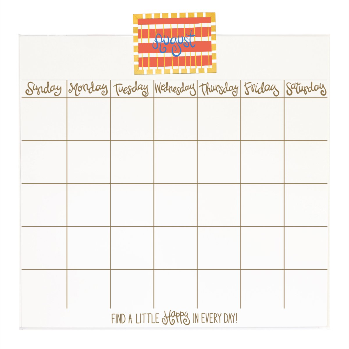 Coton Colors CALENDAR Happy Everything Magnetic Dry Erase Wall,