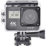 4K Action Camera, Full HD 1080P 30fps Dual Screens Pekskärm Sportkamera WiFi Action videokamera och monteringssats med…