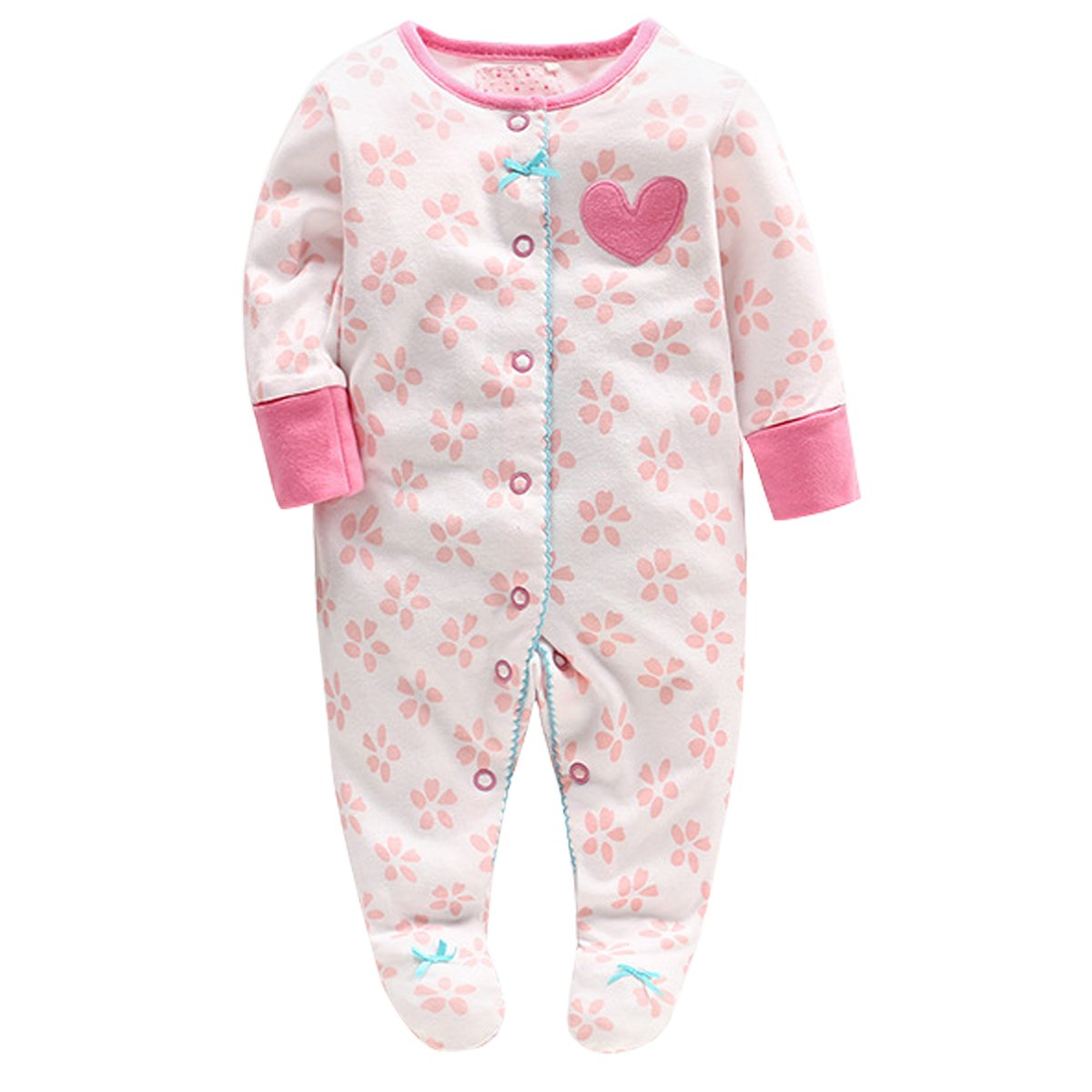 Bebone Baby Footed Sleepsuit Girls Clothes