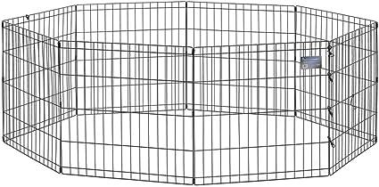 Midwest Foldable Metal Exercise Pen Pet Playpen Black 24 W X 48 H Amazon Ca Pet Supplies