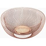 NIFTY 7511COP Double Wall Mesh Decorative Fruit Bowl, 5 quart/12, Copper