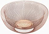 NIFTY 7511COP Double Wall Mesh Decorative and Fruit Bowl, 5 quart/12, Copper