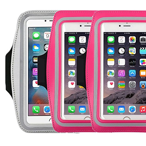 Water Resistant Sports running Armband,3Pack CaseHQ sporty sweat proof Arm Bag armband case with Key Holder for iPhone 7 7plus 6 Plus 6S Plus,Samsung Galaxy S6/S5, Note 4 Bundle with Screen Protector