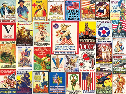 White Mountain Puzzles 1355 World War I Posters 1000 Piece Jigsaw Puzzle