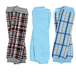 NEWBORN 3 pack of Baby boy or girl leg warmers (Boy Set 1)
