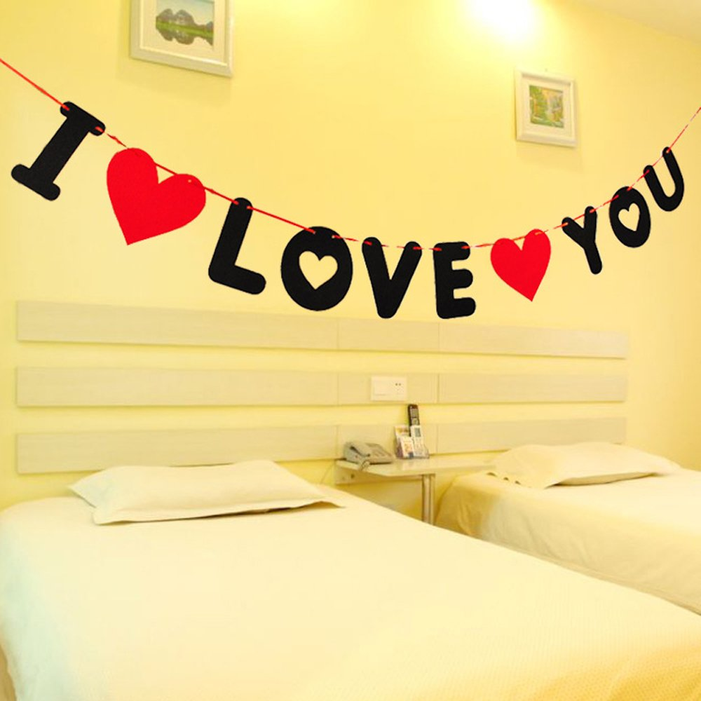 Valentine\'s Day Indoor Decor I LOVE YOU Banner ProCIV Proposal ...