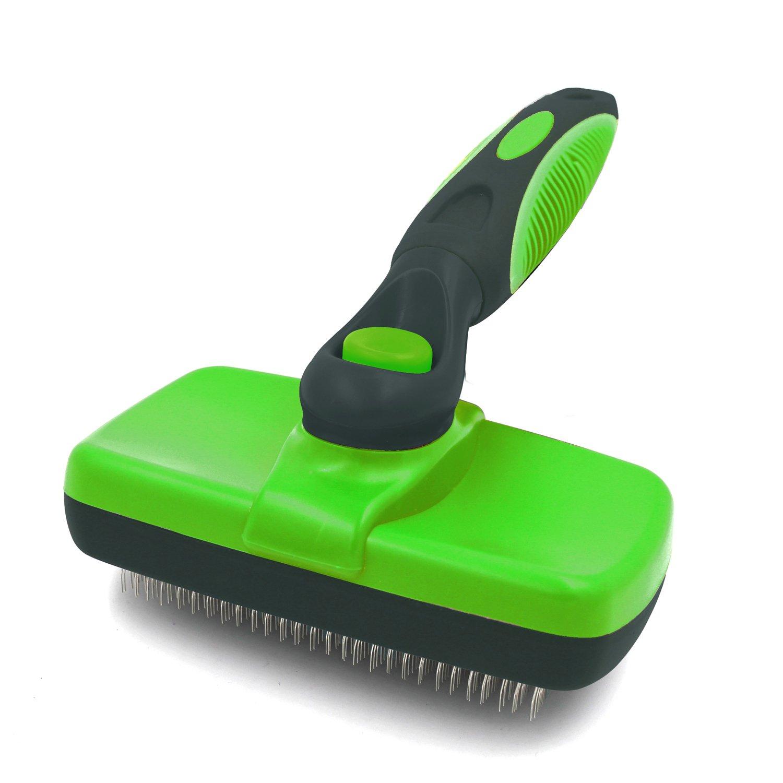 SODIAL Brosse de toilettage pour animaux de compagnie Peigne Chien Brosse auto-nettoyante pour Petit Grand Chat Chien Cheveux courts et longs Perte
