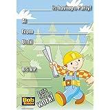 Bob the Builder Invitations w/ Envelopes (20ct)