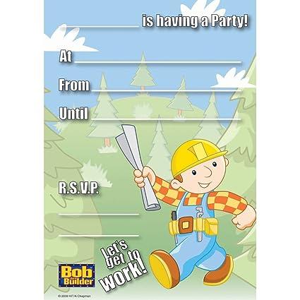 amazon com bob the builder invitations w envelopes 20ct toys