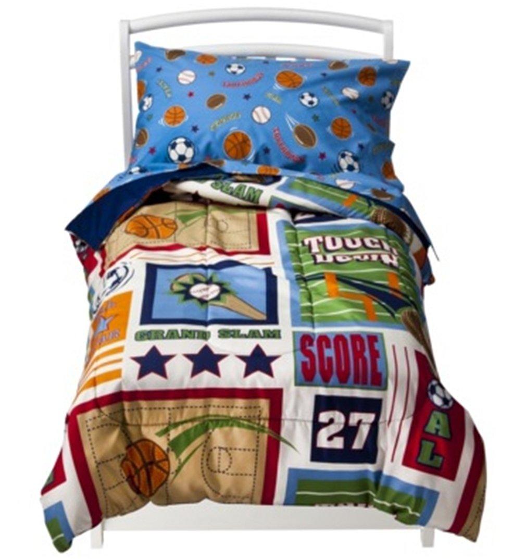 Amazoncom Circo Toddler Sports Bedding Set Boys Toddler - Circo comic bedding set