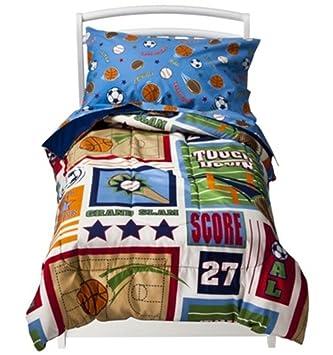 Amazon Com Circo Toddler Sports Bedding Set Boys Toddler