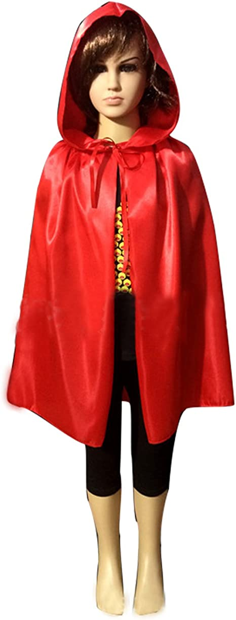 Black 23-66 inches WESTLINK Cloak with Hood Costume Hooded Cape