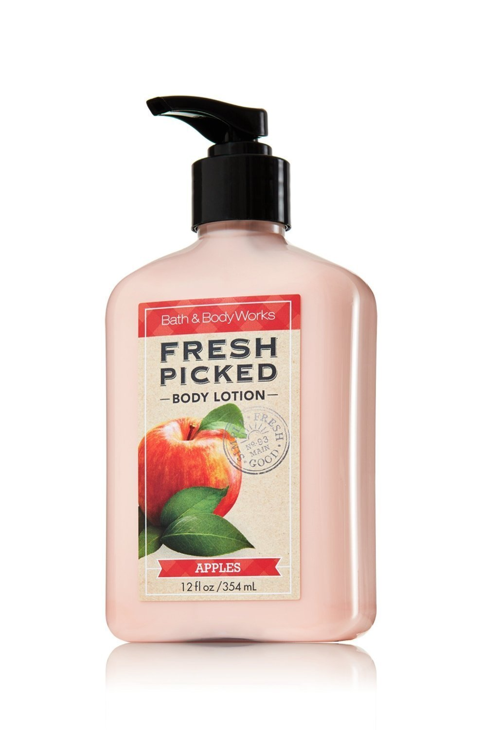 Bath and Body Works Apples Lotion Fresh Picked Collection 12 Ounce Extra Large Bottle Apple