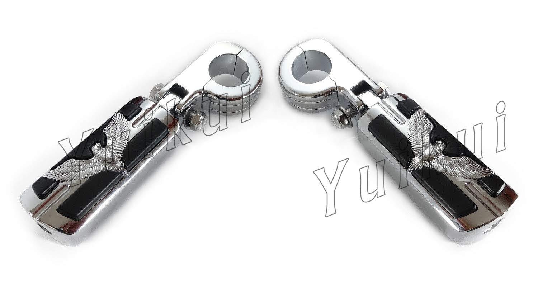 YUIKUI RACING オートバイ汎用 1-1/4インチ/32mmエンジンガードのパイプ径に対応 イーグル男性マウント ハイウェイフットペグ タンデムペグ ステップ HONDA CMX 250 REBEL All years適用   B07PTNSKQB