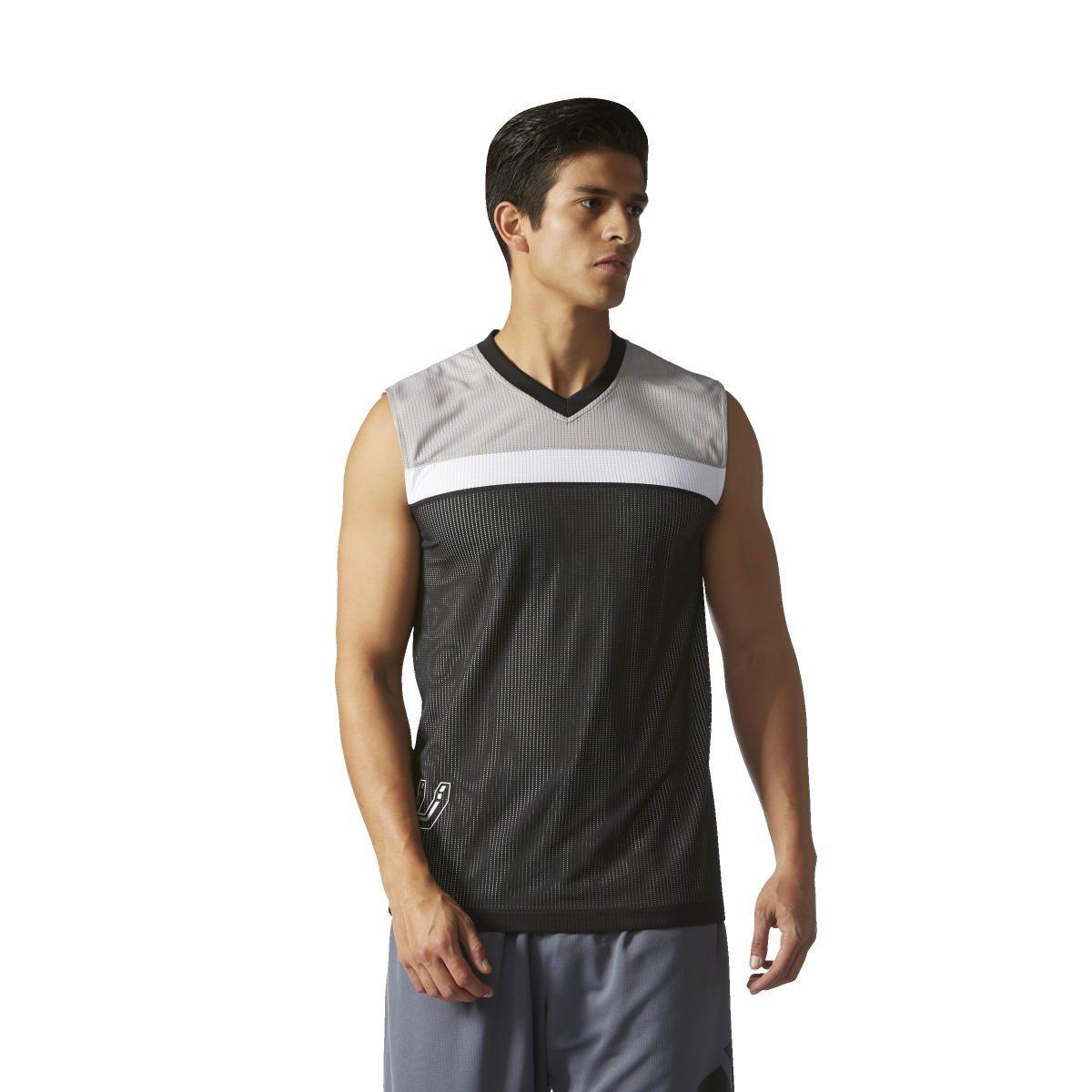 Adidas Smr RN Rev SL Maillot San Antonio Spurs de Basketball pour Homme, Multicouleure (Nbasas), XL