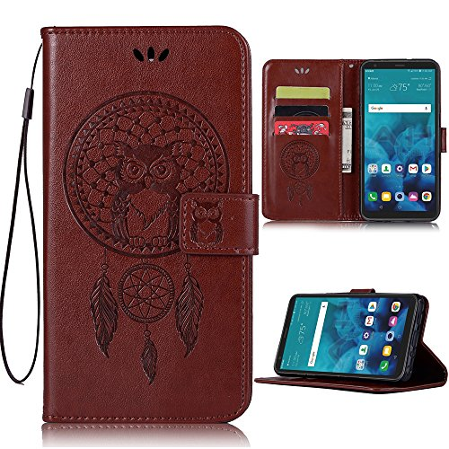 Price comparison product image LG Stylo 4 Case, LG Stylo 4 Plus Phone Case, LG Q Stylus 4 Wallet Case, PU Leather Wallet Flip Case with Credit Card Holder and Kickstand Dreamcatcher Phone Cover for LG Stylo 4 Plus / Q Stylus, Brown