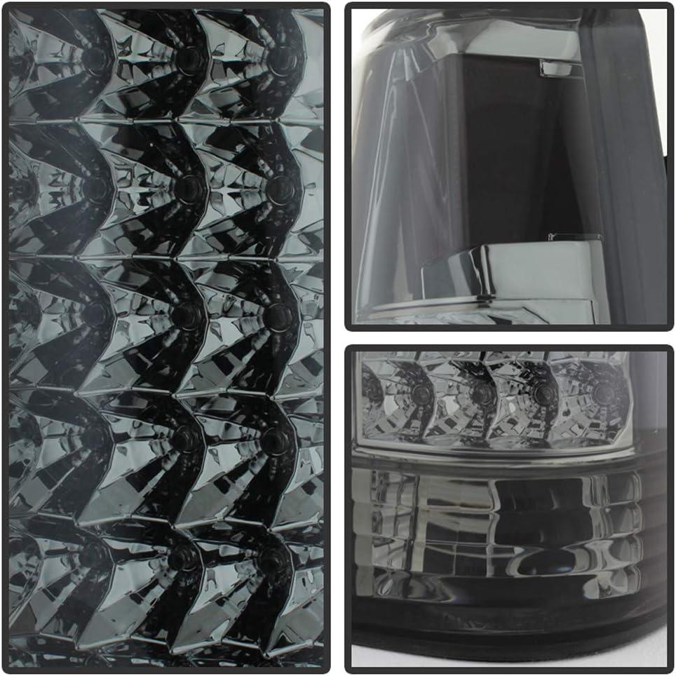 ACANII For Smoke 2003 2004 2005 2006 SilveradoC Shape LED Tail Lights Brake Lamps Set