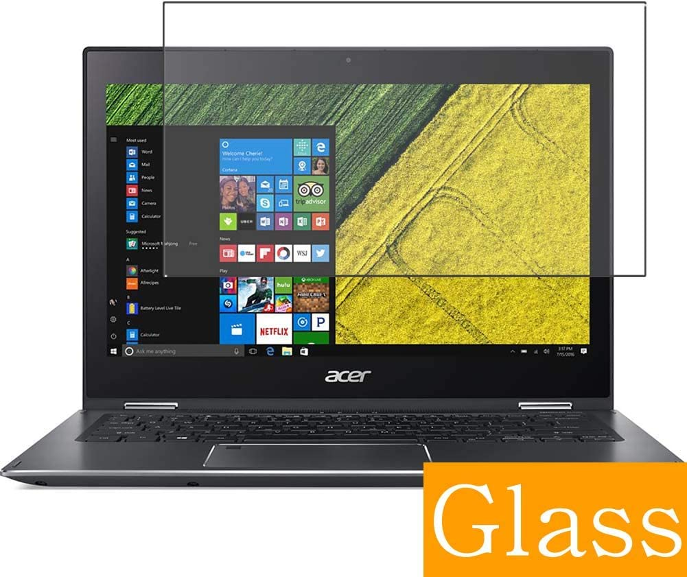 """Synvy Tempered Glass Screen Protector for Acer Spin 5 SP513-52N-N78U 2018 13.3"""" Visible Area Protective Screen Film Protectors 9H Anti-Scratch Bubble Free"""