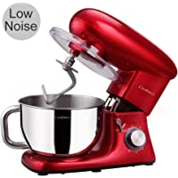Cookmii NOISELESS Kitchen Stand Mixer Tilt-head 660W/120V Electric Kitchen Mixer with 5.5QT Stainless Steel Bowl …