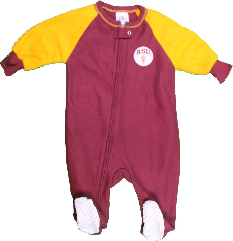 NCAA Arizona State University Baby 2-Pack Fleece Footed Sleep and Play