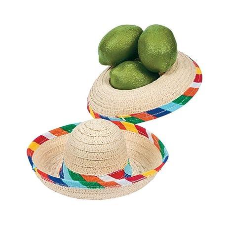 Amazon.com  Mini Sombrero Hats - Mexican Party Decor - Tabletop ... 0dc0604fed7