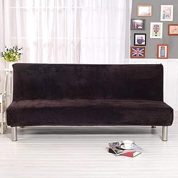 Basisago Housse De Clic Clac Elastique Canapé Sans Poignée Salon Couverture De Couleur Solide