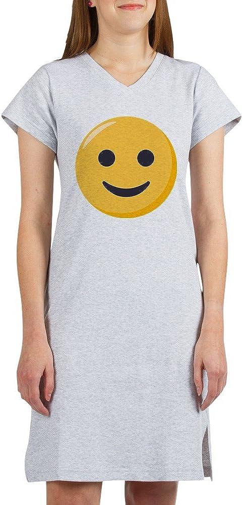 CafePress Smiley Face Emoji Womens Nightshirt Soft Long Pajama Shirt Cotton PJs//Pyjamas Heather Grey