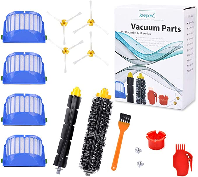 For iRobot Roomba 600 Series 620 630 650 Replacement Vacuum Brush Filter Kit
