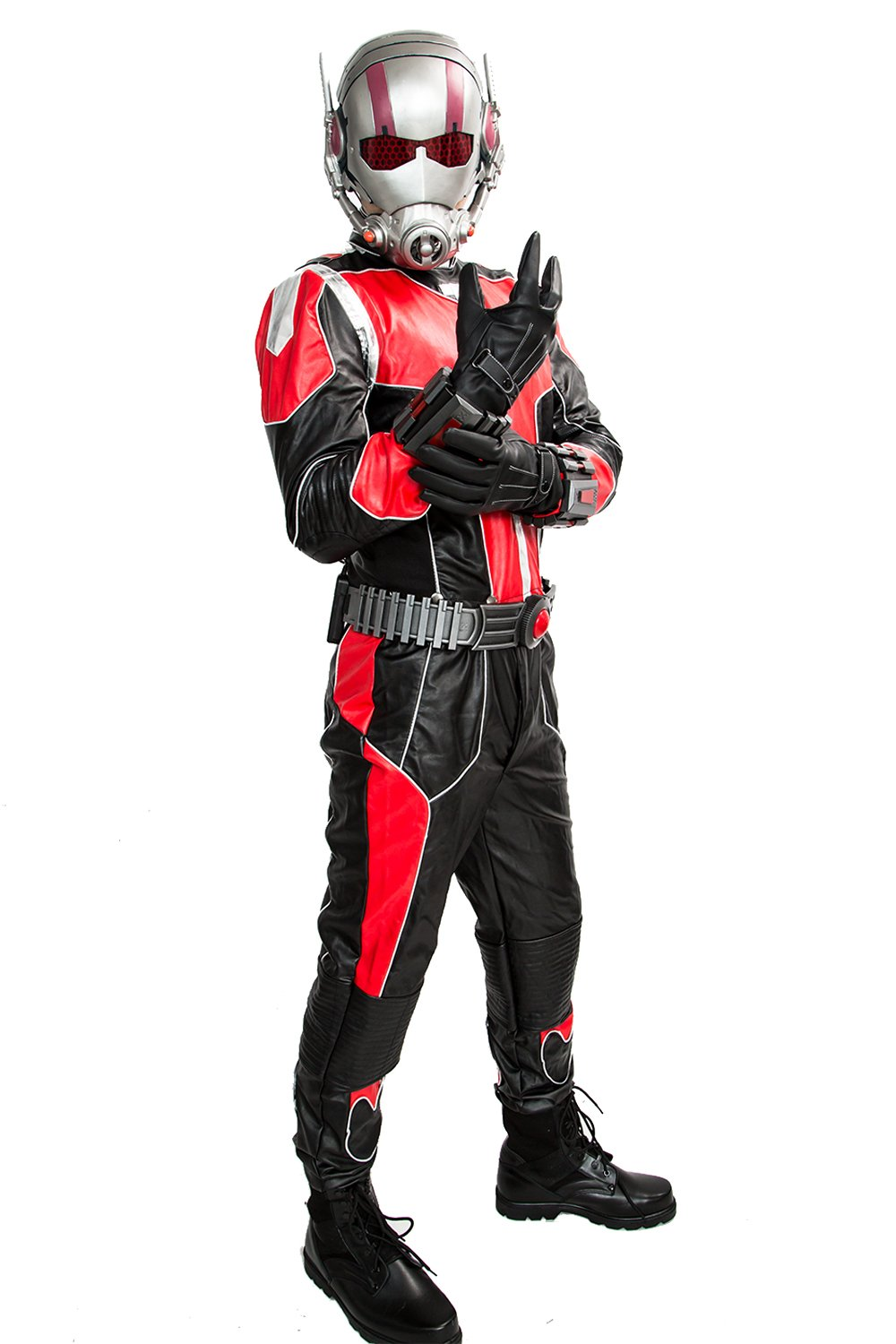Deluxe Men's Ant Outfit PU Leather Jacket Suit for Halloween Costume XXL by xcoser